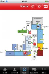 Overview of CeBIT exhibtion halls