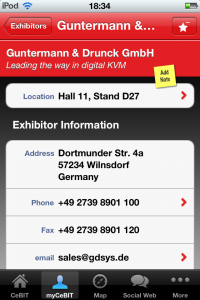 Information about G&D's stand at CeBIT