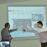 Frank Nölken, G&D and Maxim Stepanov, VMGRussia presenting KVM solutions