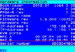 Serial number of DVICenter