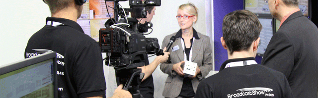 10 minute live interview with TV-Bay at IBC 2013