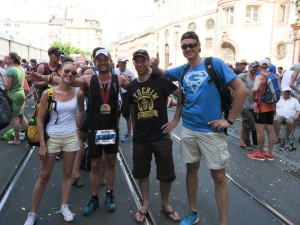 Our ironman with his supporters from G&D