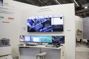 Video wall operated with devices from different manufacturers shown at IBC