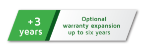Optional warranty expansion to 6 years