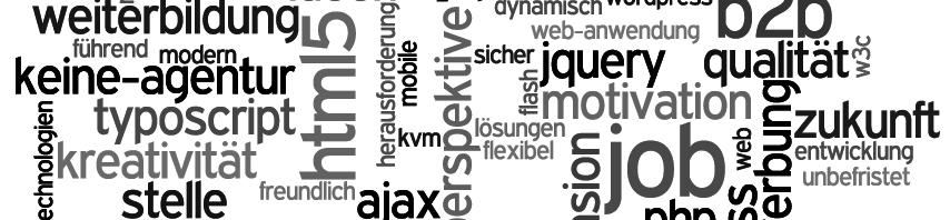 Inhouse Web-Entwickler (m/w) gesucht