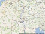 Die Route durch Europa