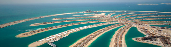 KVM-Technik und die Jumeirah-Palme in Dubai