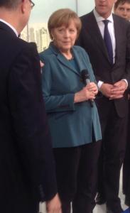 Kanzlerin Merkel auf der Hannover Messe