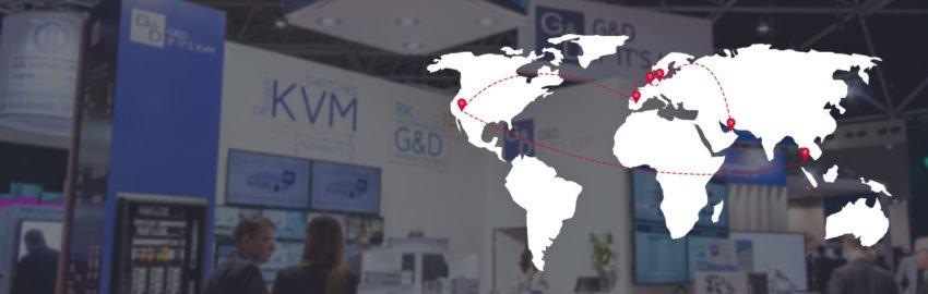 KVM-Highlights unterwegs: auf diesen Messen treffen Sie G&D 2020