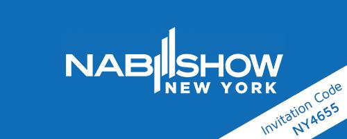 Logo NAB Show New York + Einladungscode NY4655