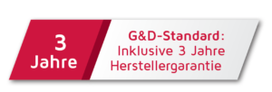 G&D-Standard drei Jahre Herstellergarantie