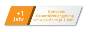 Optionale Garantieverlängerung vor Ablauf um je ein Jahr