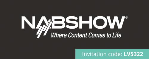 Logo NAB Show mit Einladungs-Code LV5322
