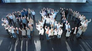 G&D_team winkend von oben fotografiert